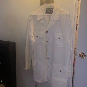 White Burberry vintage trench coat short size 8